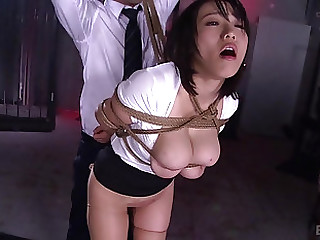 Asian cutie Kaho Shibuya has two fellas two enjoy her holes
