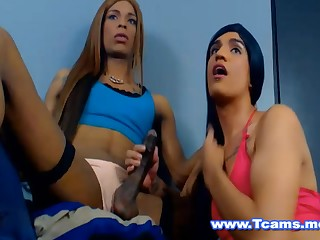 What a gender hot blowjob given by this hot tgirl and that horny tranny