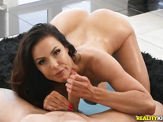 Fit cougar with big boobs has sex with her various yoga teacher