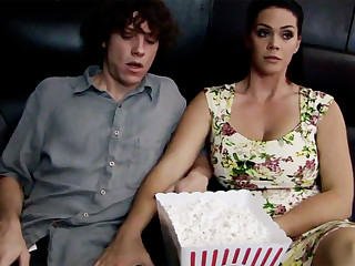 Horny milf touch shy stepson's locate in cinema