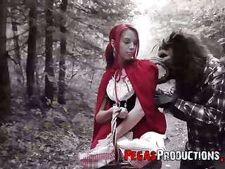 The red riding hood Brind Love gets banged apart from woodcutter not allowed