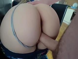 Girl with a big ass having in passionate dealings