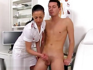 Stud Is Naked At The Doctors And Lets The Nurse Take it on the lam Him
