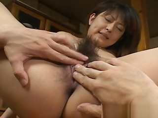 Asakawa Rei Acquiring Their way Anus Poked Hard Over A Table