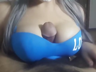 4K Arabian HALLOWEEN tit fuck - cumshot check point in time