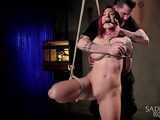 Torture together with BDSM are the secret fantasies of tied Sophia Locke