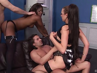 Best way to cancel a work week is by having interracial foursome sex