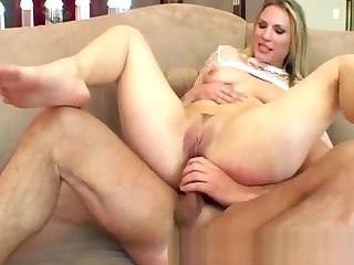 Two huge dicks break a hot blondie in the matter of two with deep dp