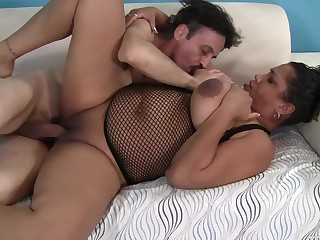 Chubby mature leaves the step son to show will not hear of proper porn