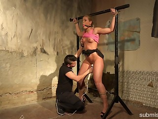 MILF acts submissive for will not hear of younger master on touching a big dick