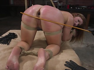Ass porn in brutal XXX fetish for a unconditionally submissive babe