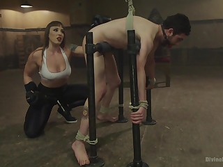 Lint Kara humiliates and tortures her misdirect slave and gets fucked