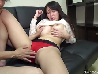 Asian model Okina Anna with massive comport oneself boobs having sex