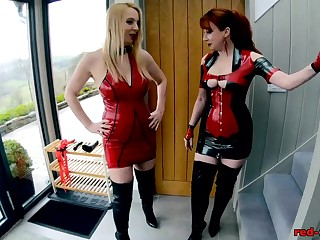 Red XXX and Lucy have game forth their latex outfits