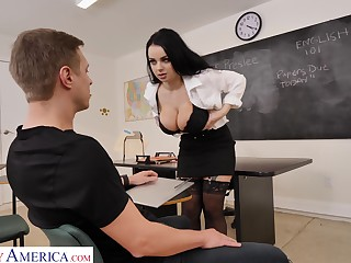 A conversation on touching a lecture territory turns fucking and that professor got big tits