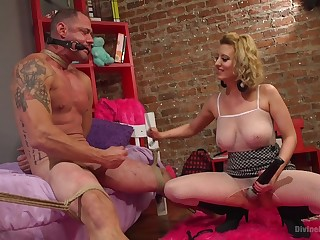Kinky homemade video of dominant wife Cherry Torn tormenting her hubby