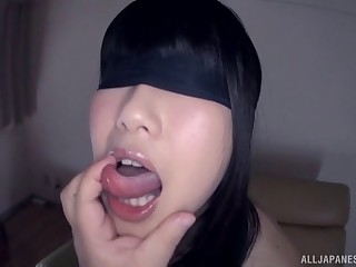 Dirty Japanese slut Arisa Seina gets fucked in 'round respects of the brush holes