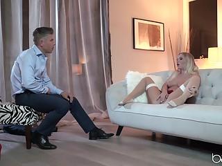 Ass, Babe, Blonde, Blowjob, Facial, Lingerie, Pornstar, Stockings