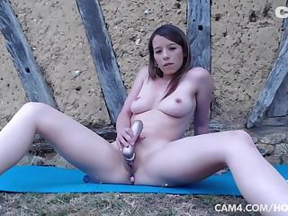 Abstruse Squatting Bodysuit Fitness Outside Masturbation Clit Vaginal Anal