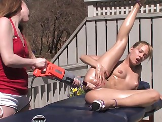 Blue Angel - Cute Teen Lesbians Operate Close by Kinky Sex Toy