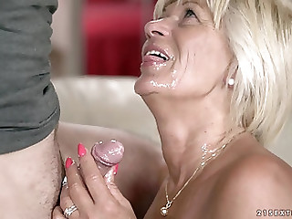 Mature Diane Sheperd finally gets to play with a delicious Hawkshaw