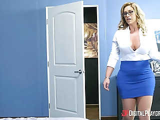 Lovely Eva Notty gets her pussy fucked while her big gut frolic