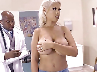 Milf around big natirals fucked hard by black doctor in ehavy mode