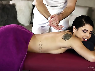 Effectuation with the hairy pussy of his seductive honey Gina Valentina